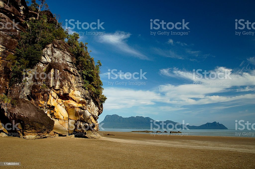 Spectacular view of Bako National Park beaches stock photo