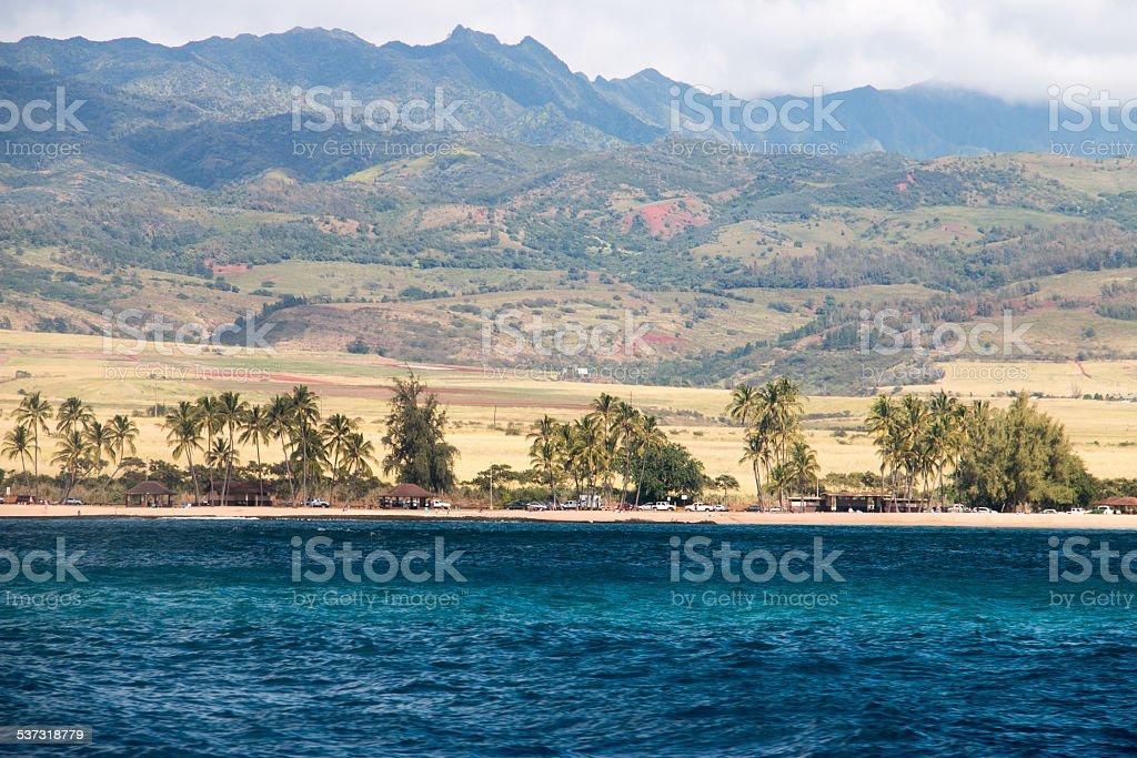 Spectacular View of Kauai Island stock photo