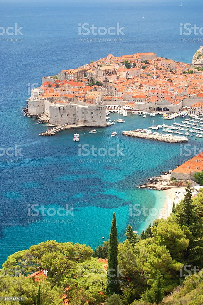 Spectacular view on the Old Town of Dubrovnik, Croatia royalty-free stock photo