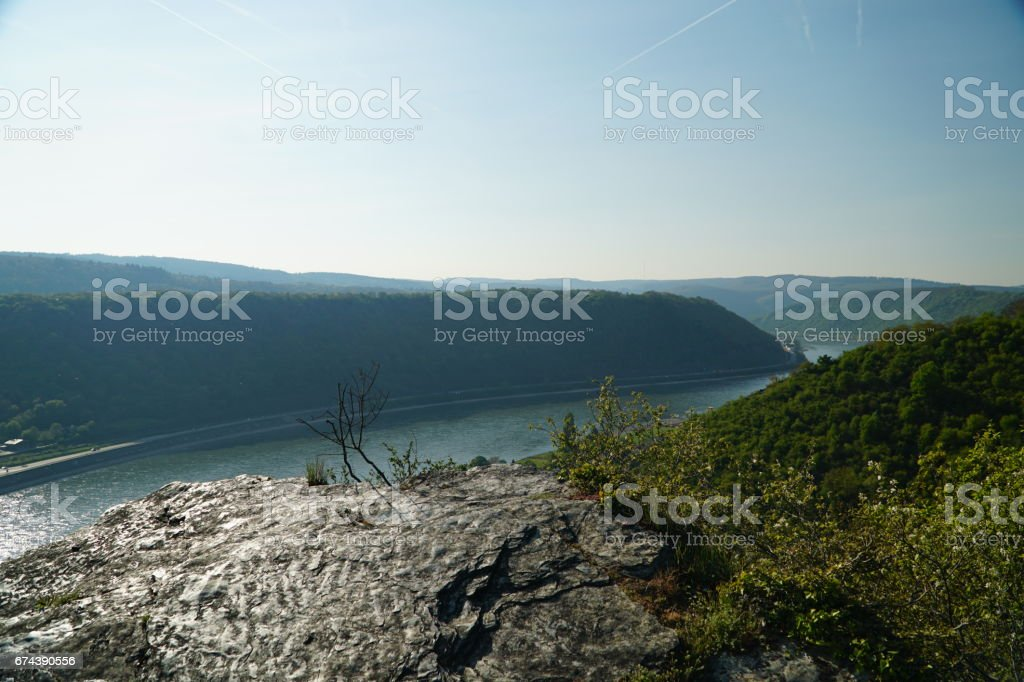 Spectacular view over the Middle Rhine valley stock photo