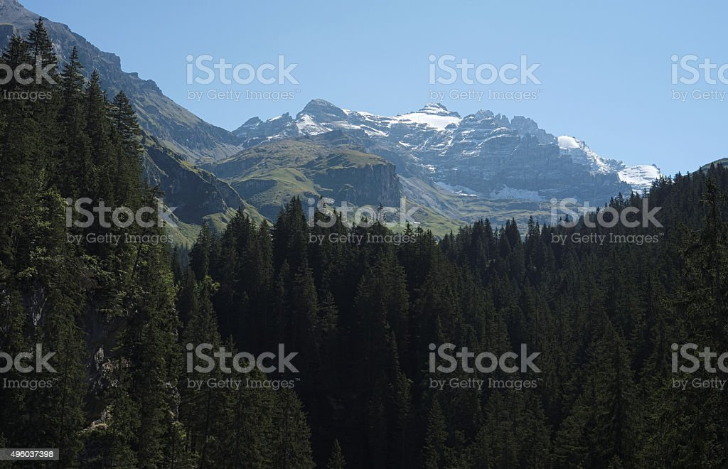 Spectacular views in the Kiental Valley (Berner Oberland, Switzerland) stock photo