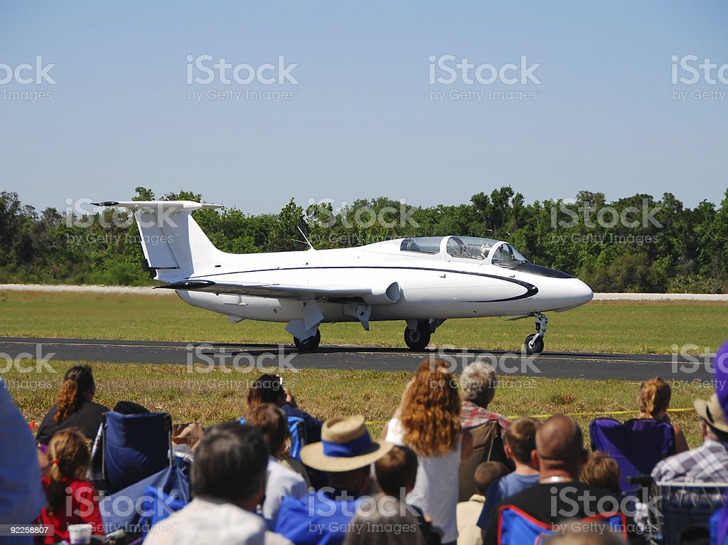 Spectators at airport royalty-free stock photo