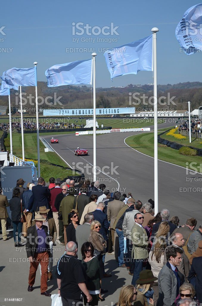 Spectators at the GRRC 72nd meeting at Goodwood. stock photo