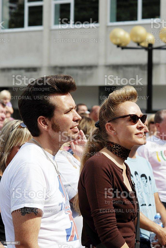 Spectators during Mathew Street Festival royalty-free stock photo