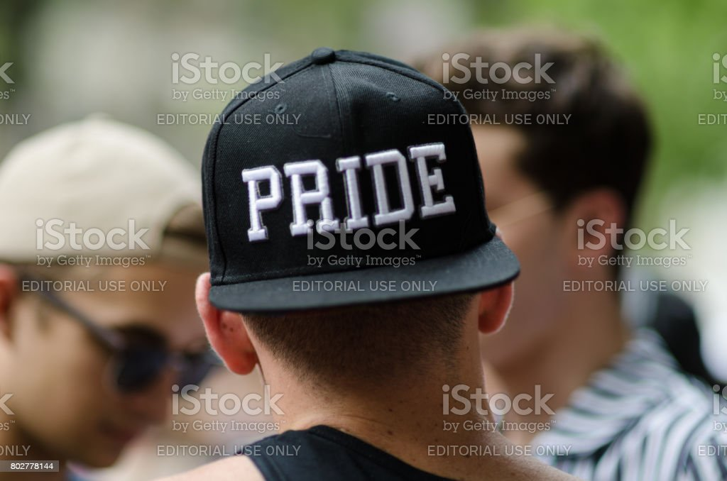 Spectators Gay Pride Parade New York City stock photo