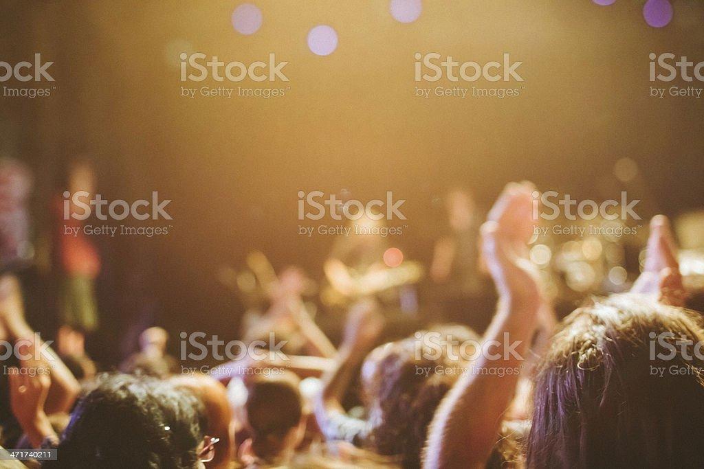 Spectators of a Music Concert stock photo
