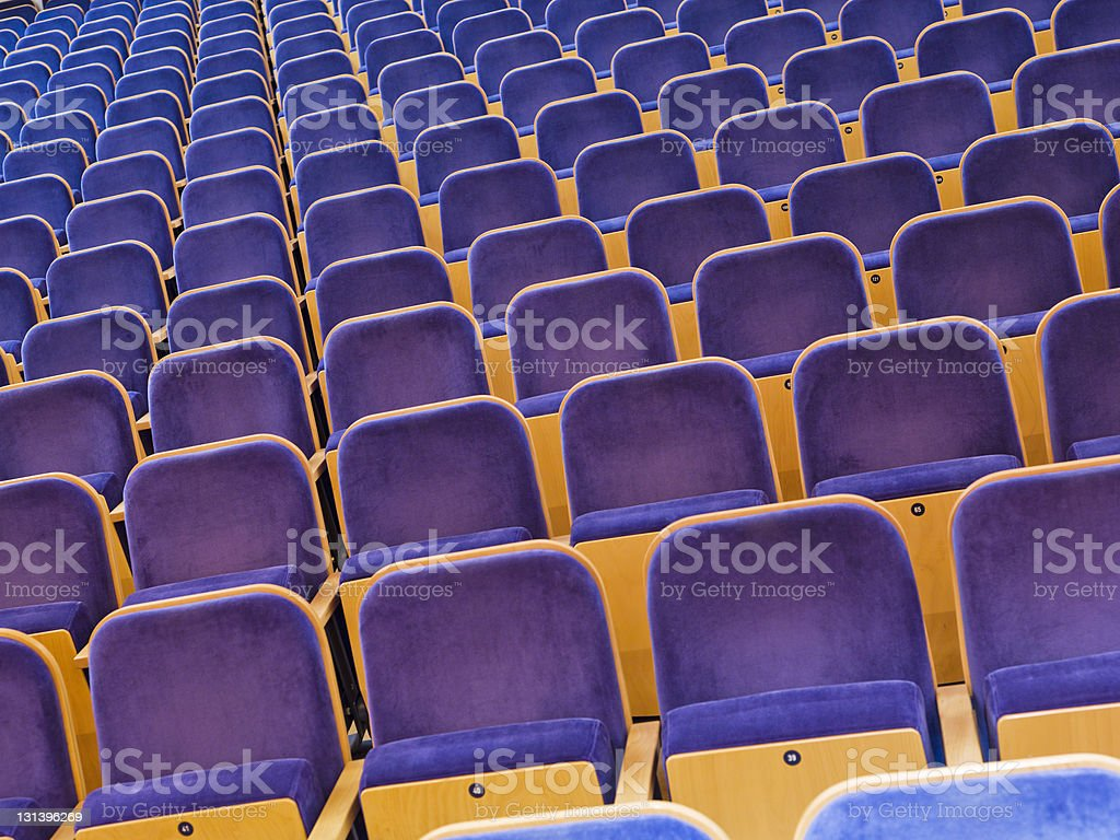 Spectators Seats royalty-free stock photo