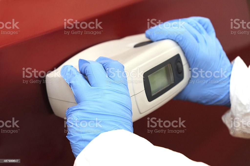 spectrophotometer stock photo