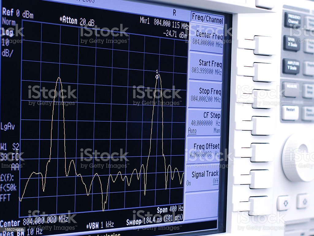 Spectrum Analyzer stock photo
