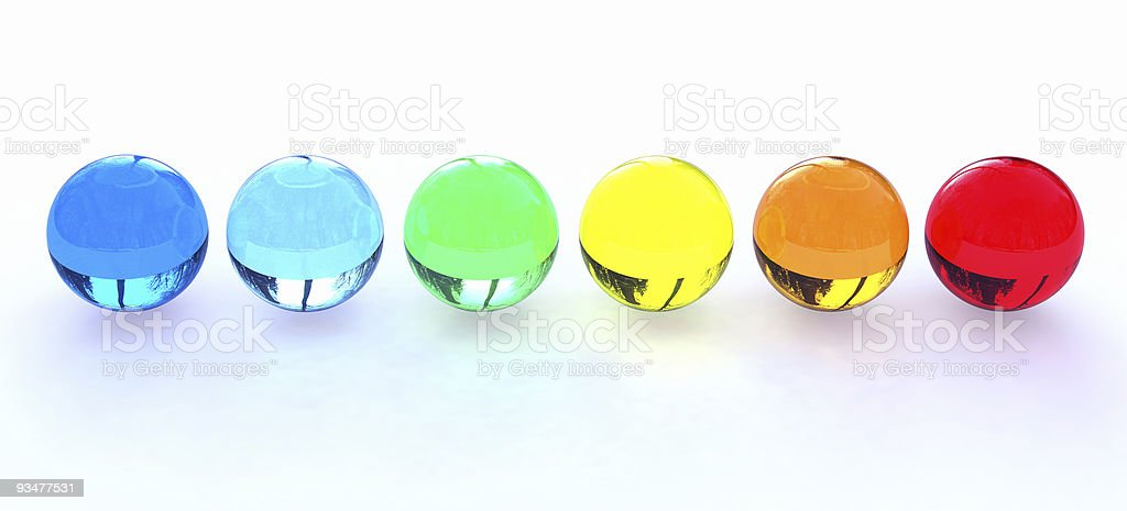 Spectrum Spheres royalty-free stock photo
