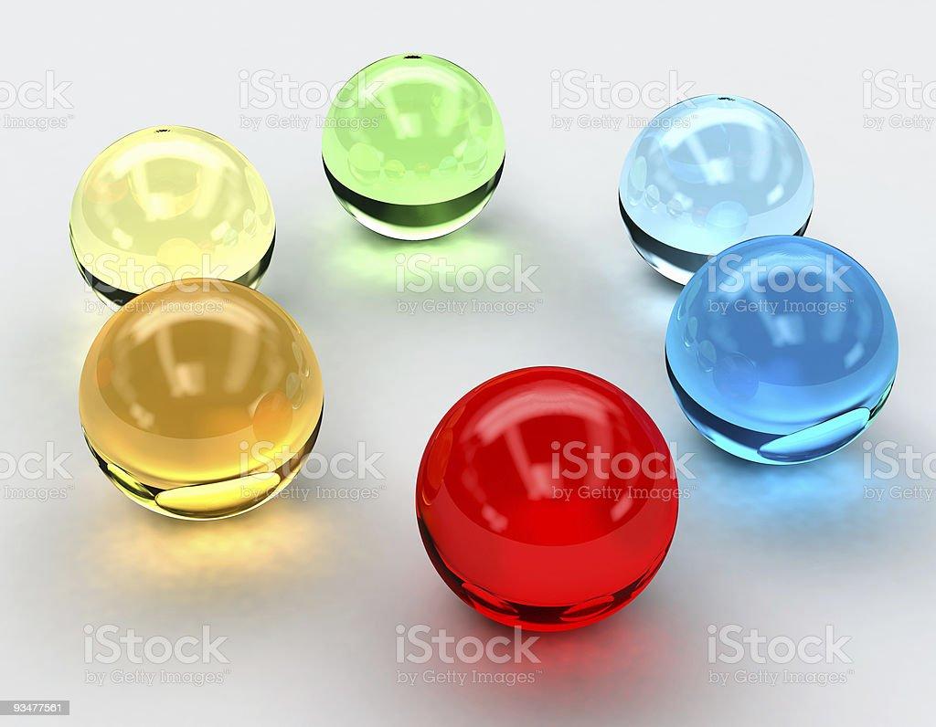 Spectrum Spheres royalty-free stock photo