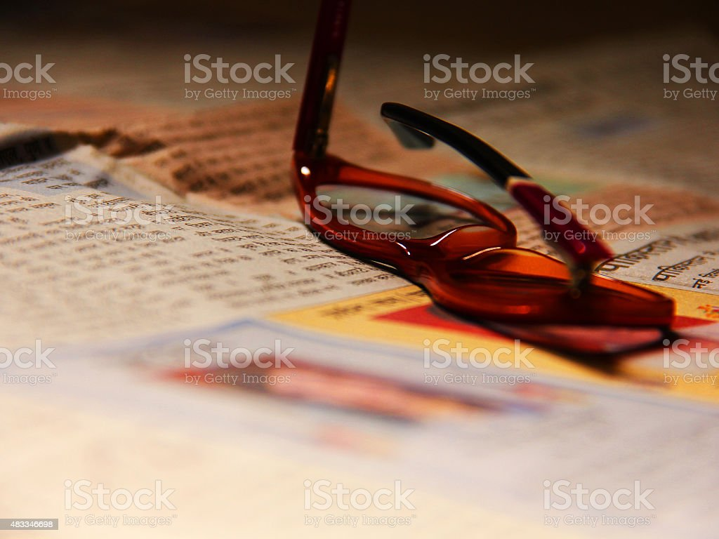 Spects_newspaper stock photo