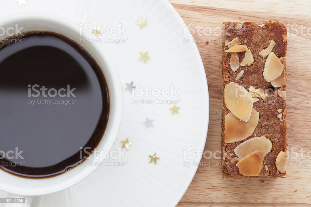 Speculaas and Coffee stock photo