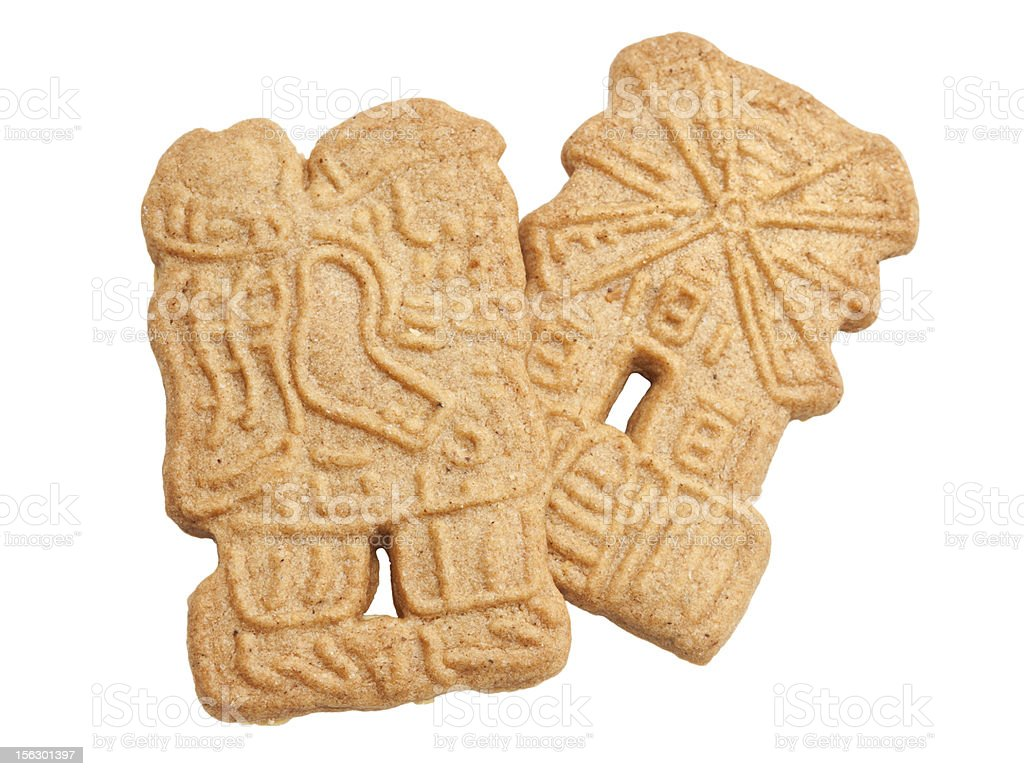 Speculaas Cookies Isolated royalty-free stock photo