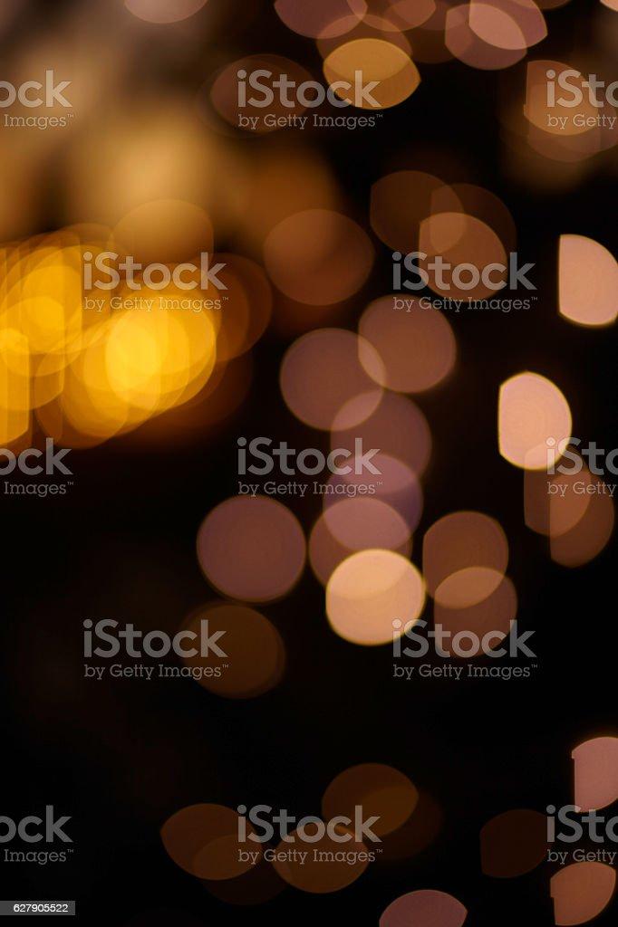 Specular highlights, lights at night stock photo
