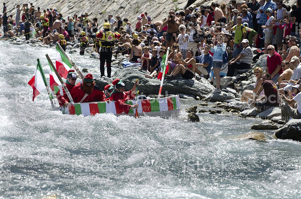 Spedizione dei Mille ,Rafting carton boat race royalty-free stock photo
