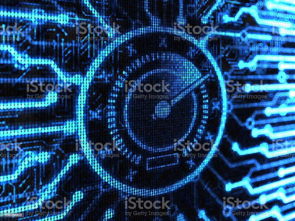 Spedometr download speed royalty-free stock photo