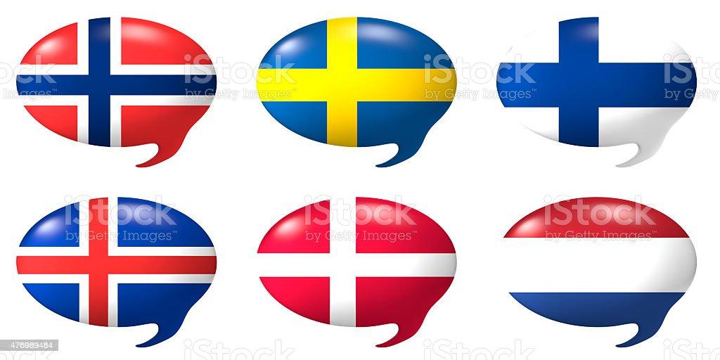Speech balloon - North Europe stock photo