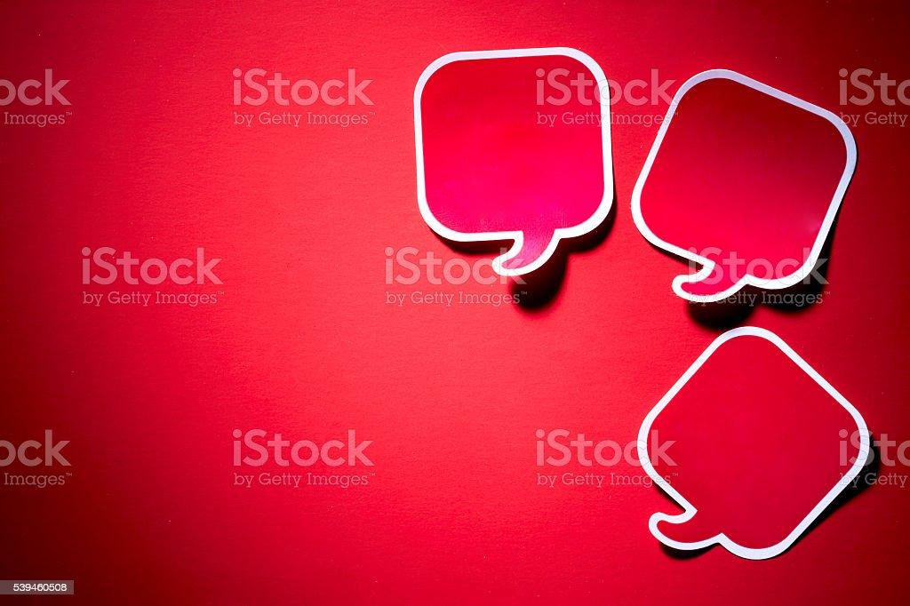 Speech balloons stock photo