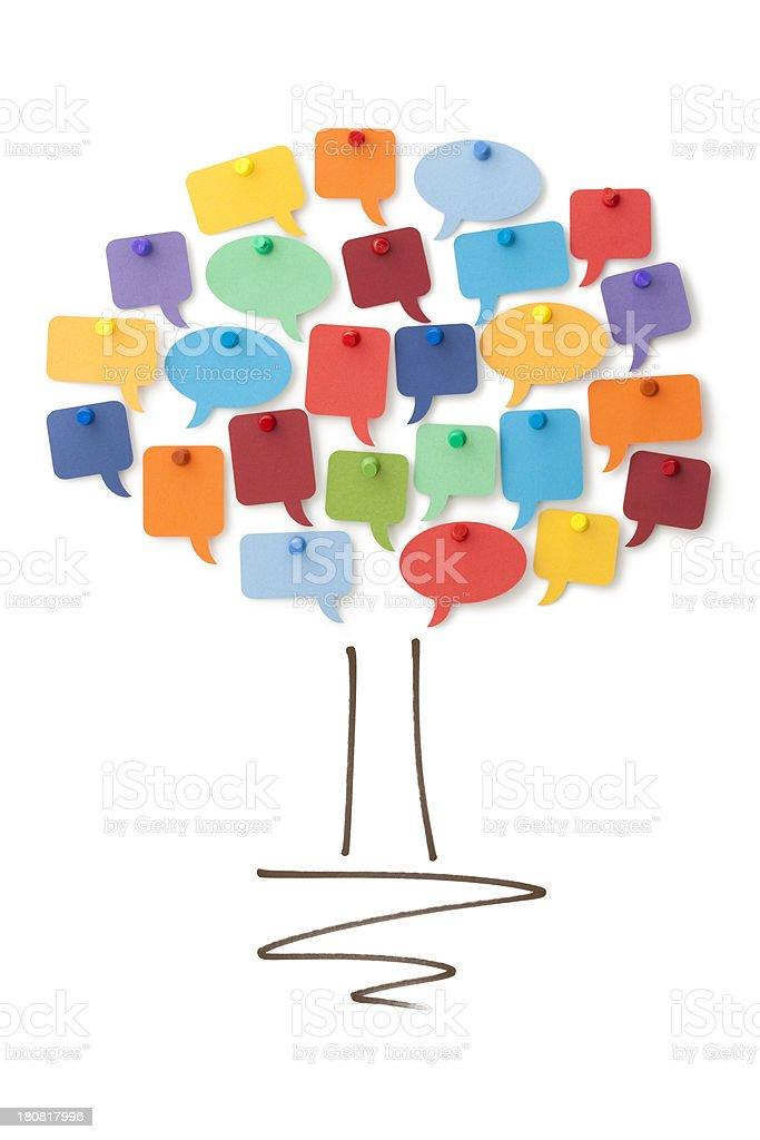 Speech bubble community tree royalty-free stock photo