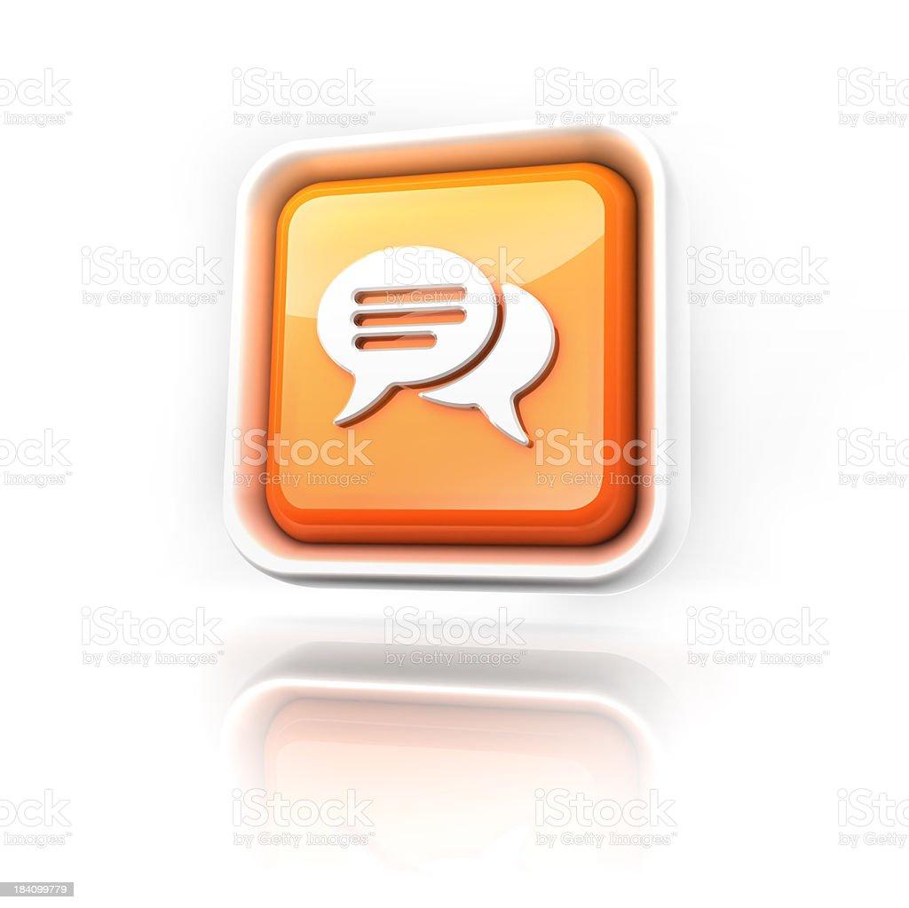Speech Bubble Icon stock photo