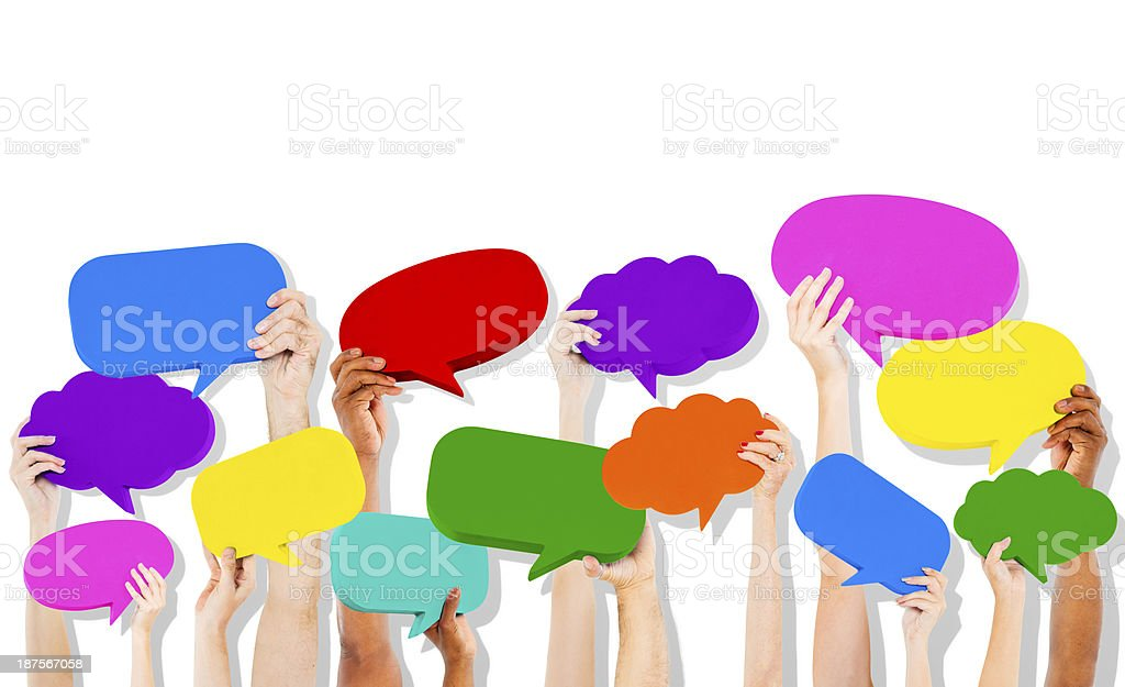 Speech Bubble Icons stock photo