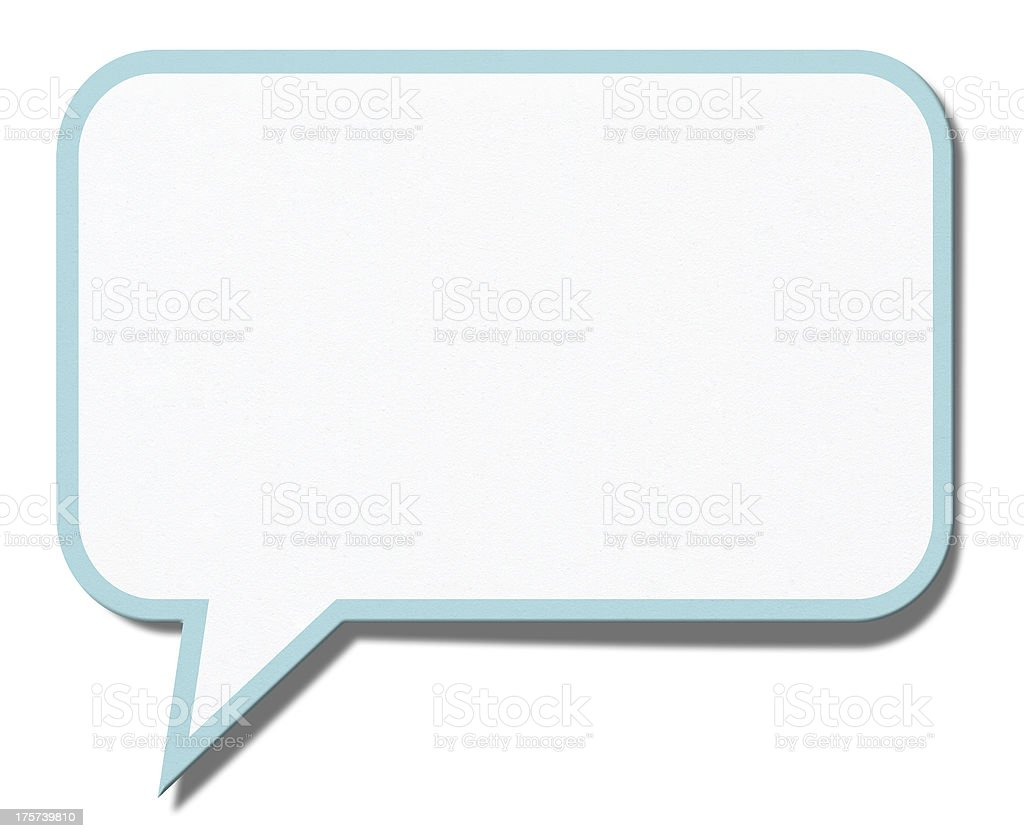 Speech bubble isolated on a white background royalty-free stock photo