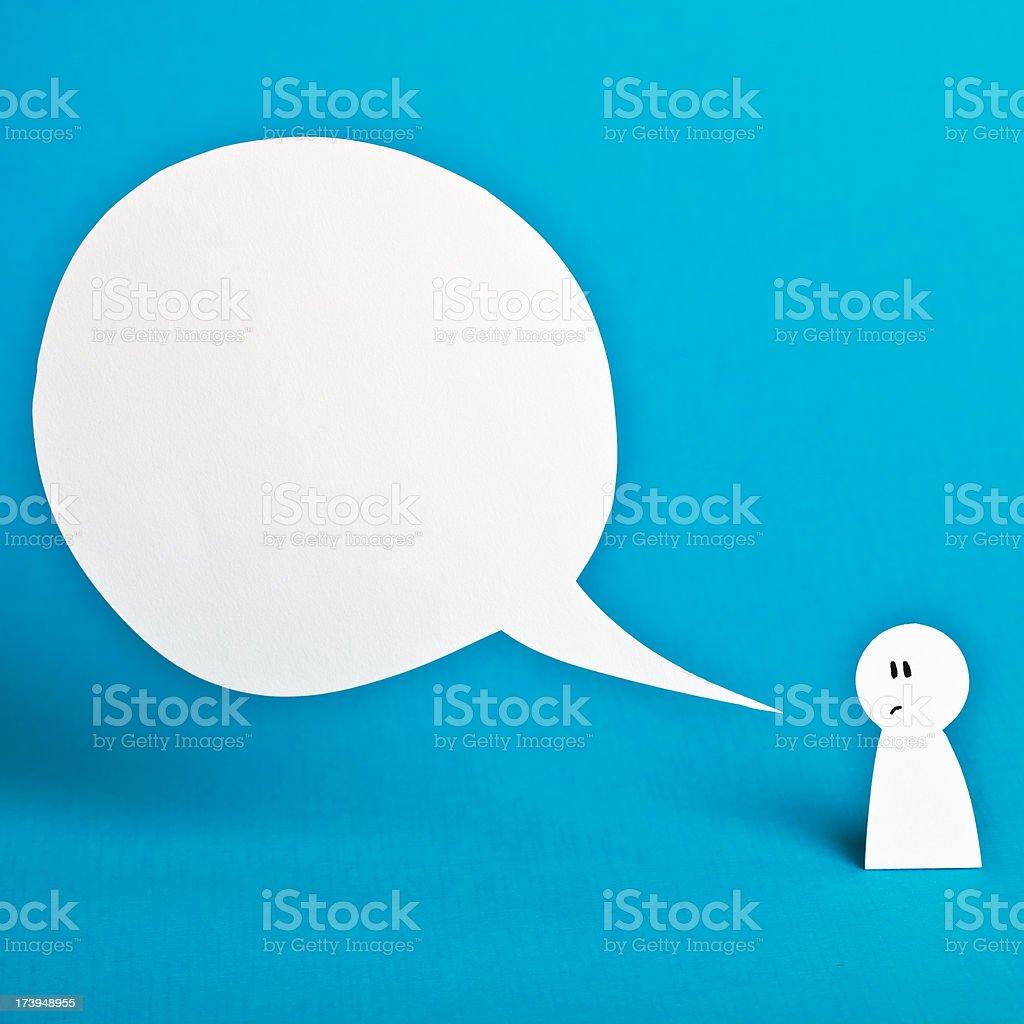 Speech bubble royalty-free stock photo