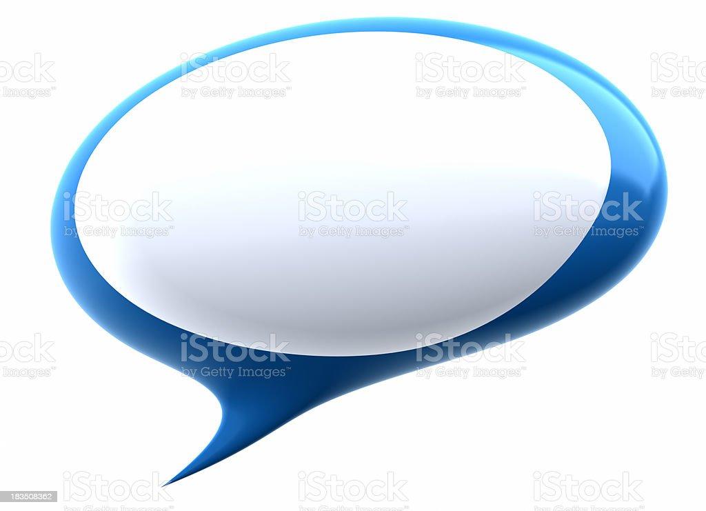 Speech bubble stock photo