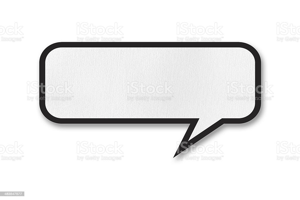 Speech Bubble (Isolated) royalty-free stock photo