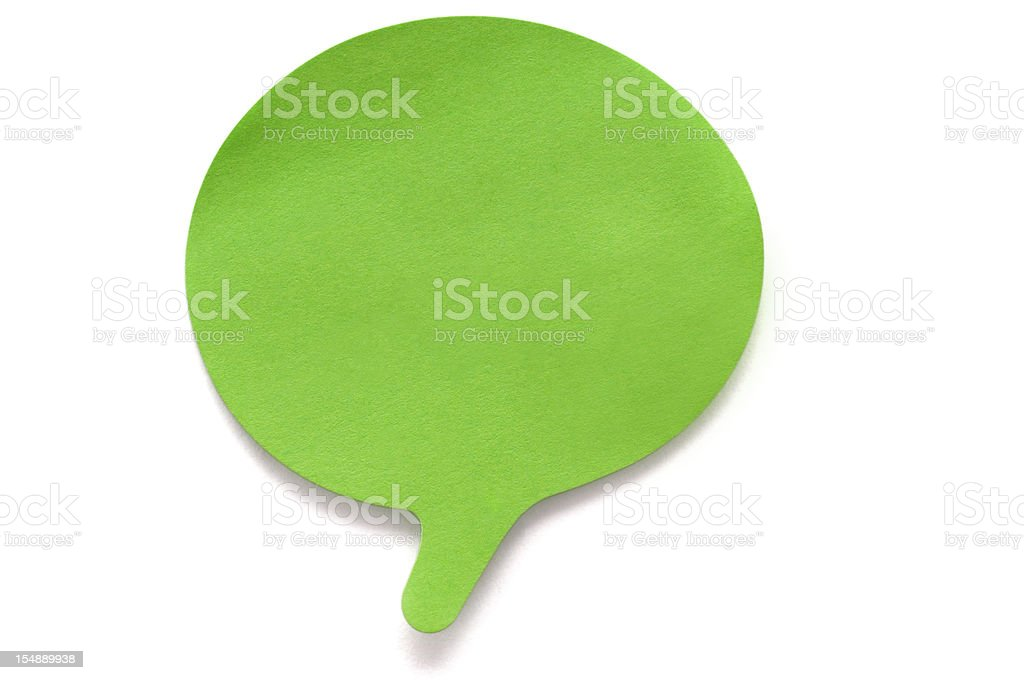Speech Bubble Post-it isolated on white royalty-free stock photo