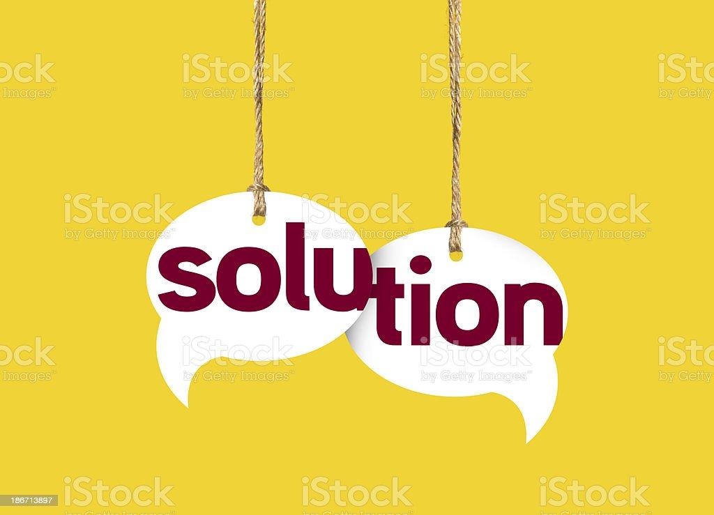 Speech Bubble Solution stock photo