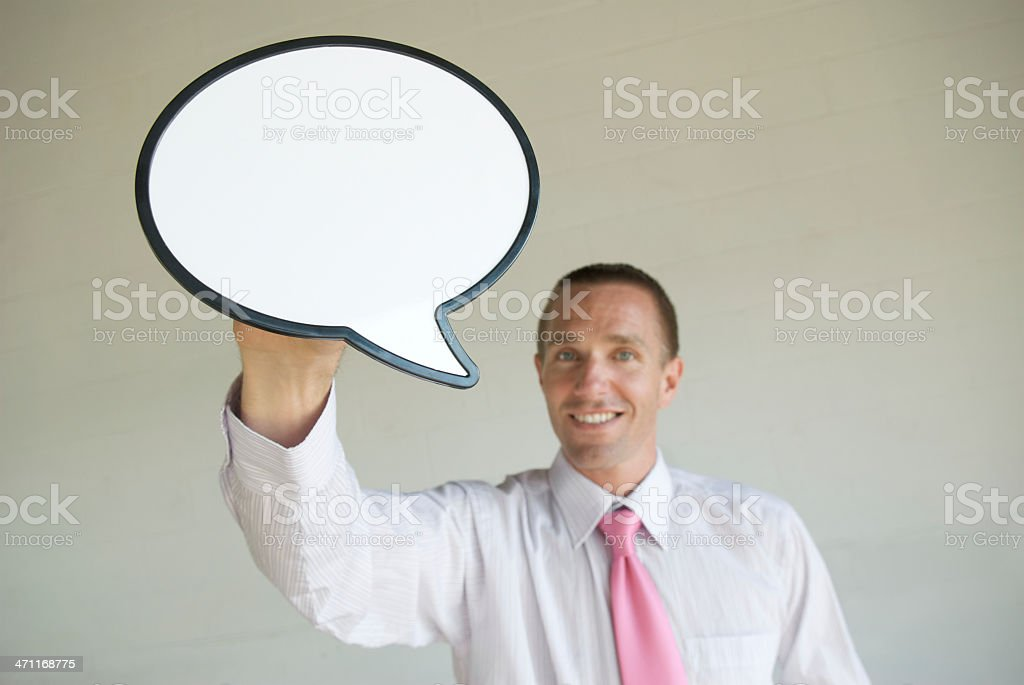 Speech Bubble with a Smile royalty-free stock photo