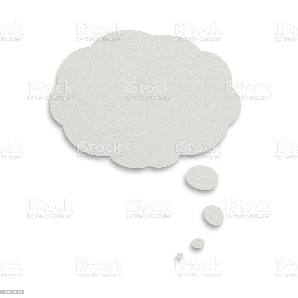 Speech bubble with clipping path royalty-free stock photo