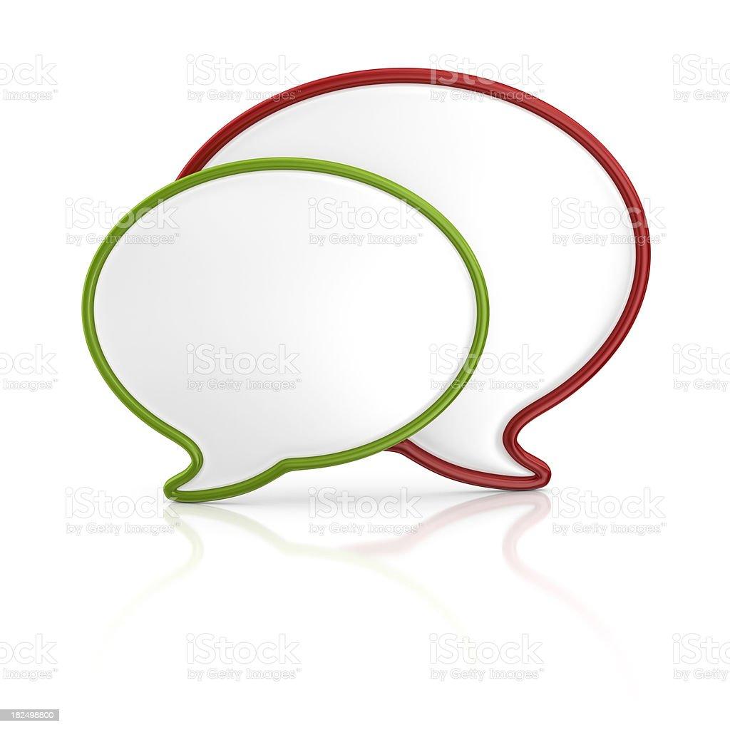 speech bubbles royalty-free stock photo