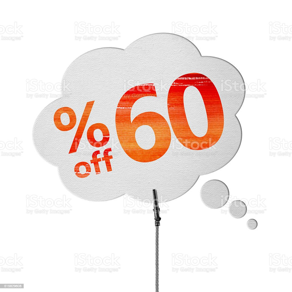 60% OFF Speech Bubbles (Clipping Path) stock photo