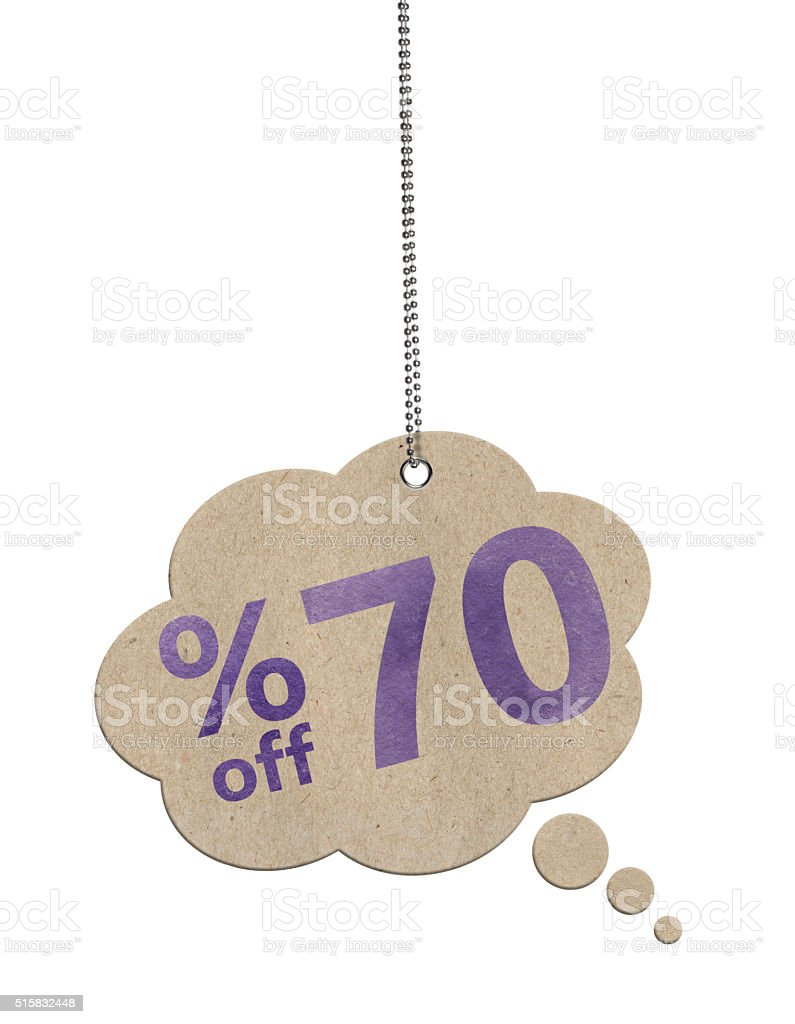 70% OFF Speech Bubbles (Clipping Path) stock photo