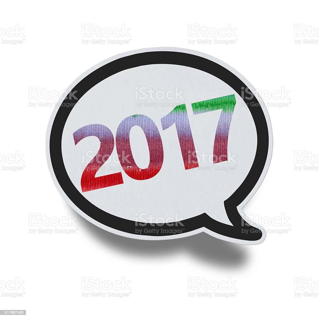 2017 - Speech Bubbles (Clipping Path) stock photo