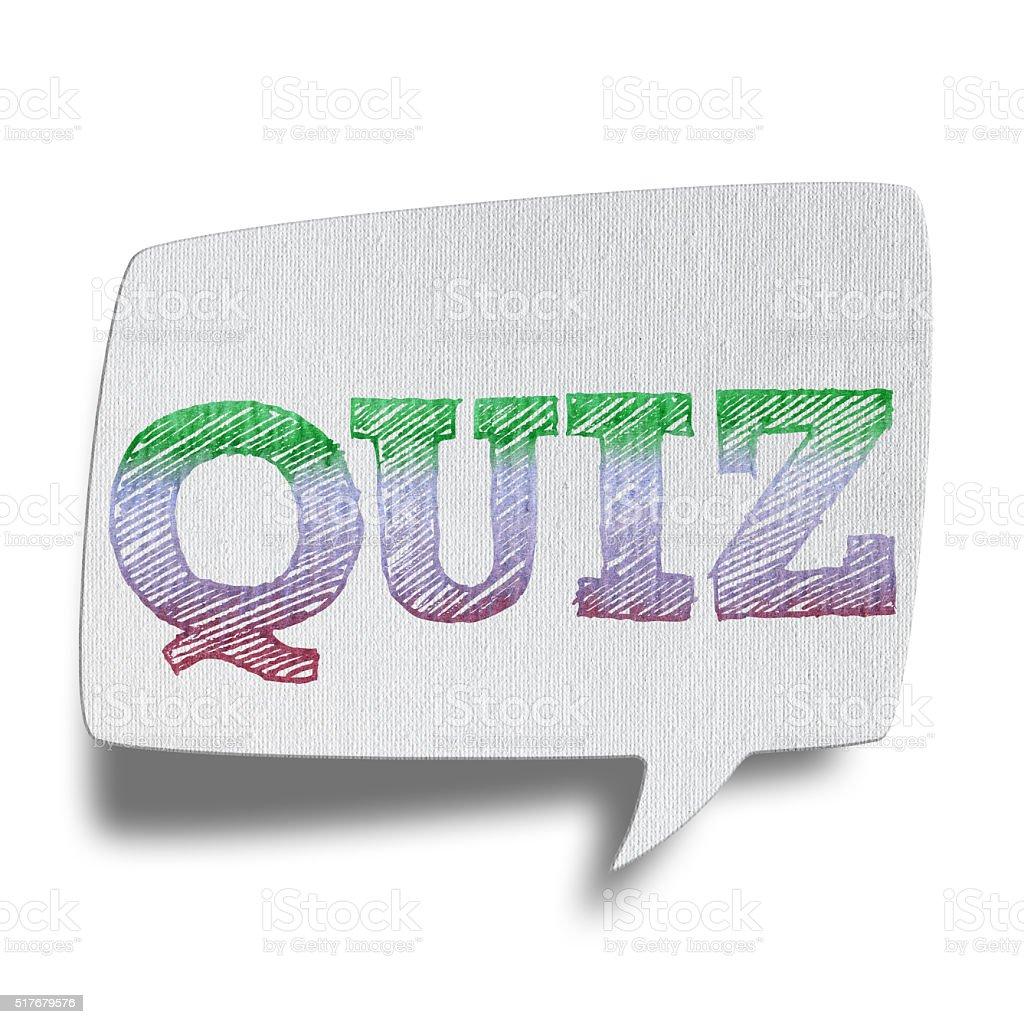 QUIZ - Speech Bubbles (Clipping Path) stock photo