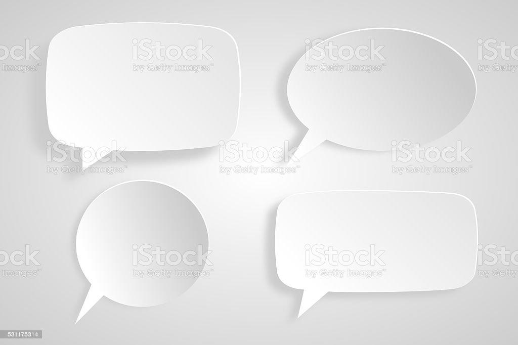 4 speech bubbles stock photo