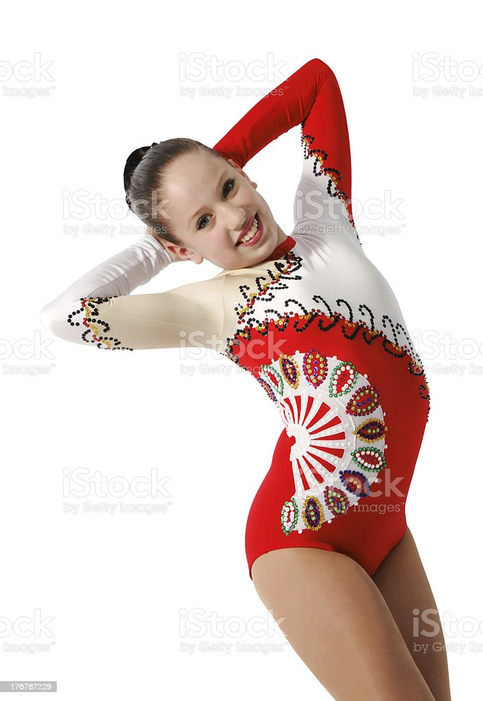 Speech by the young athlete aerobics royalty-free stock photo