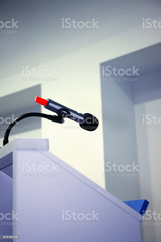 Speech microphone stock photo