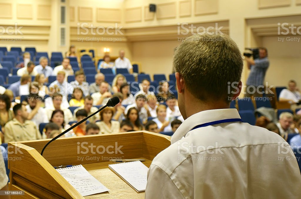 Speech royalty-free stock photo