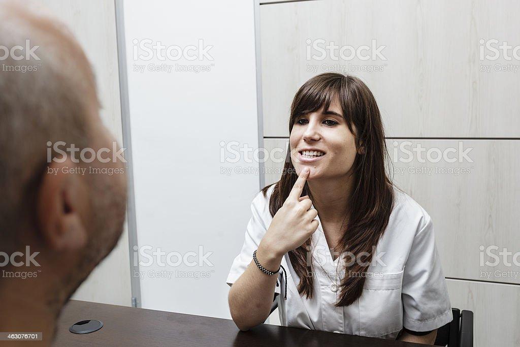 Speech therapist stock photo