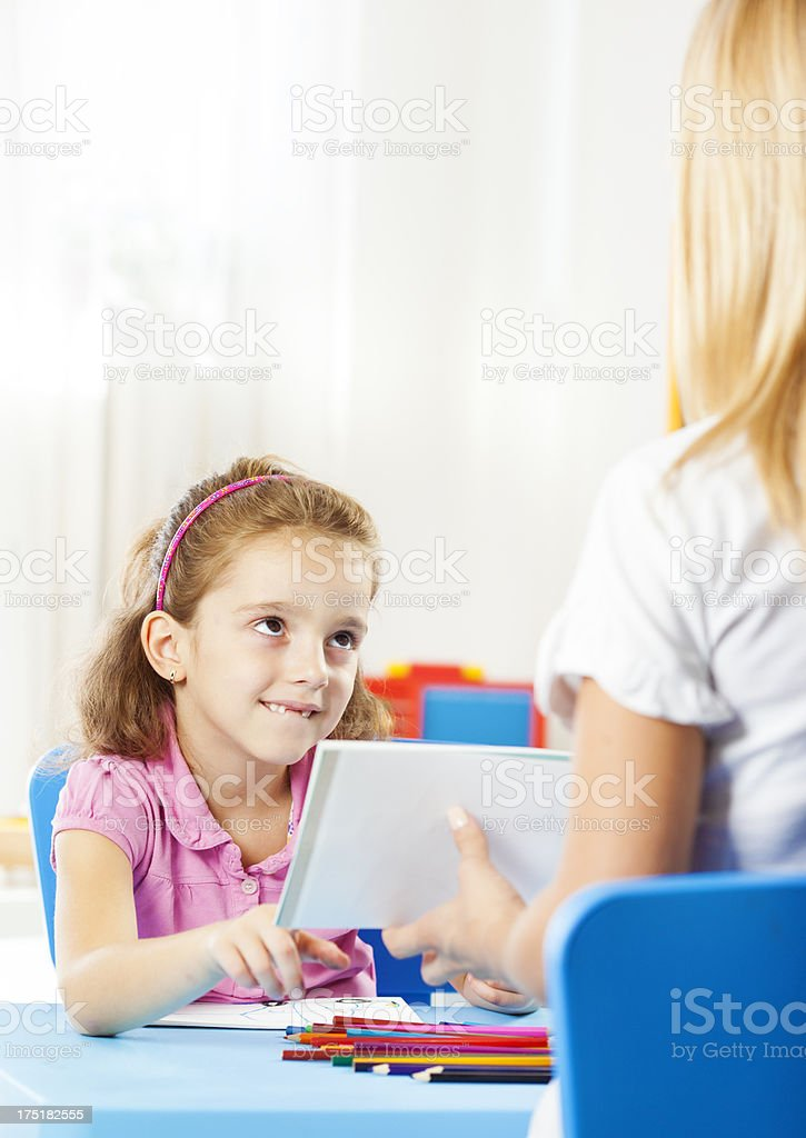 Speech Therapy. royalty-free stock photo