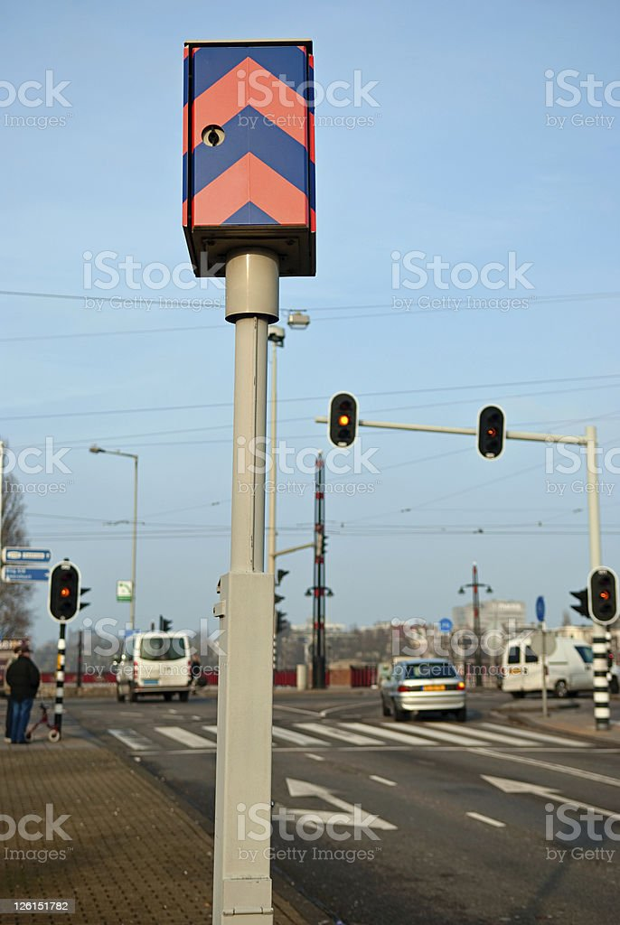 Speed and Traffic Light Camera (Back) stock photo