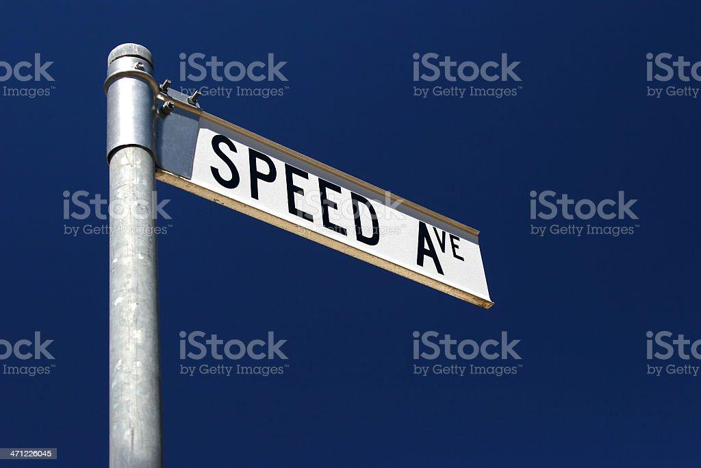 Speed Ave Street Sign stock photo