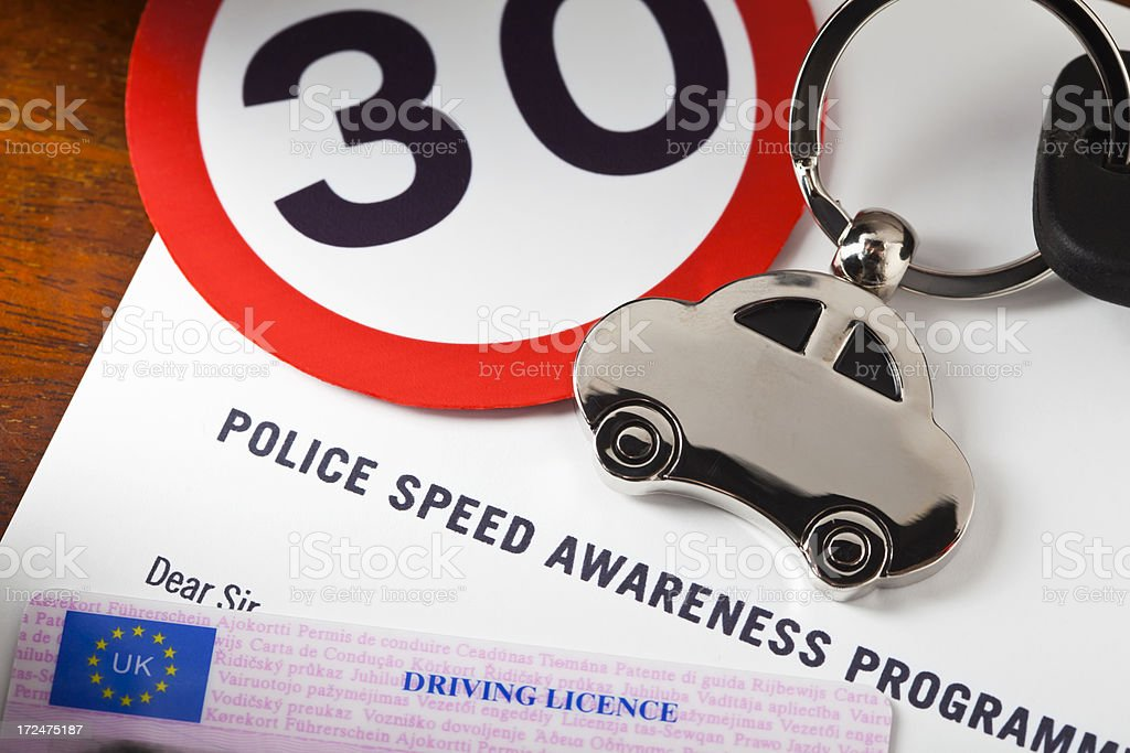 UK Speed Awareness Course royalty-free stock photo