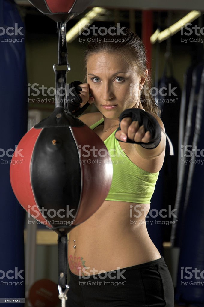 Speed Bag Jab stock photo