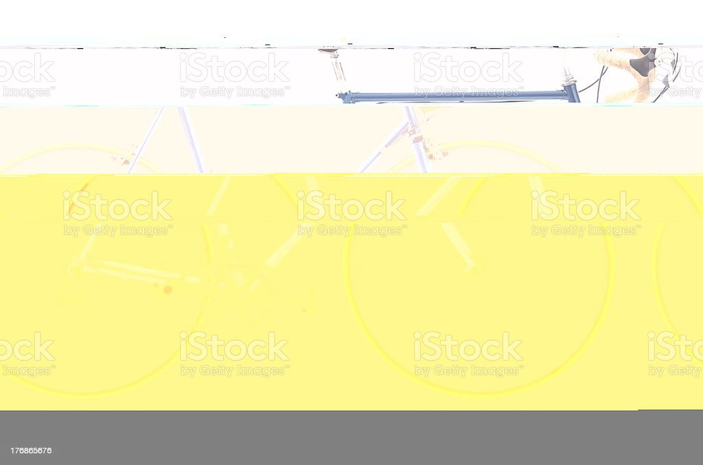 16 Speed Bike - Side View (Isolated) royalty-free stock photo